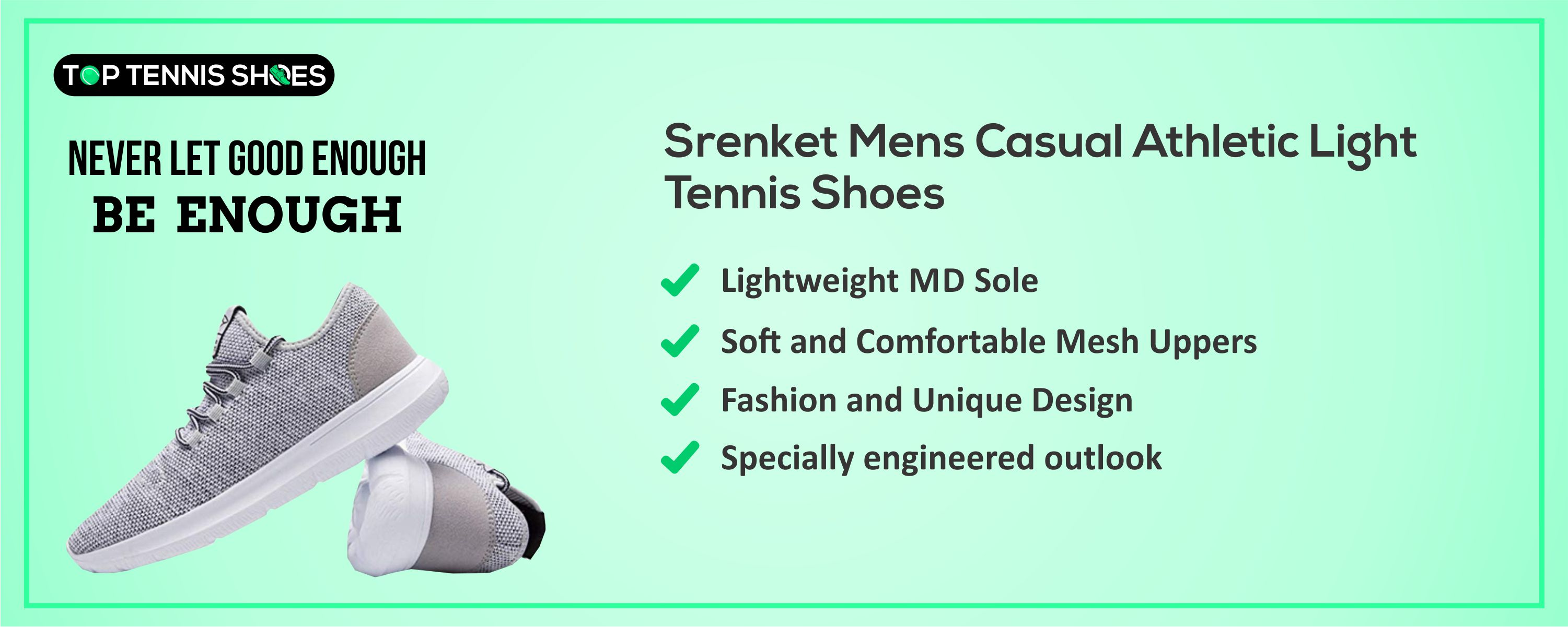 Srenket Mens Casual Athletic Shoes detailed reviews