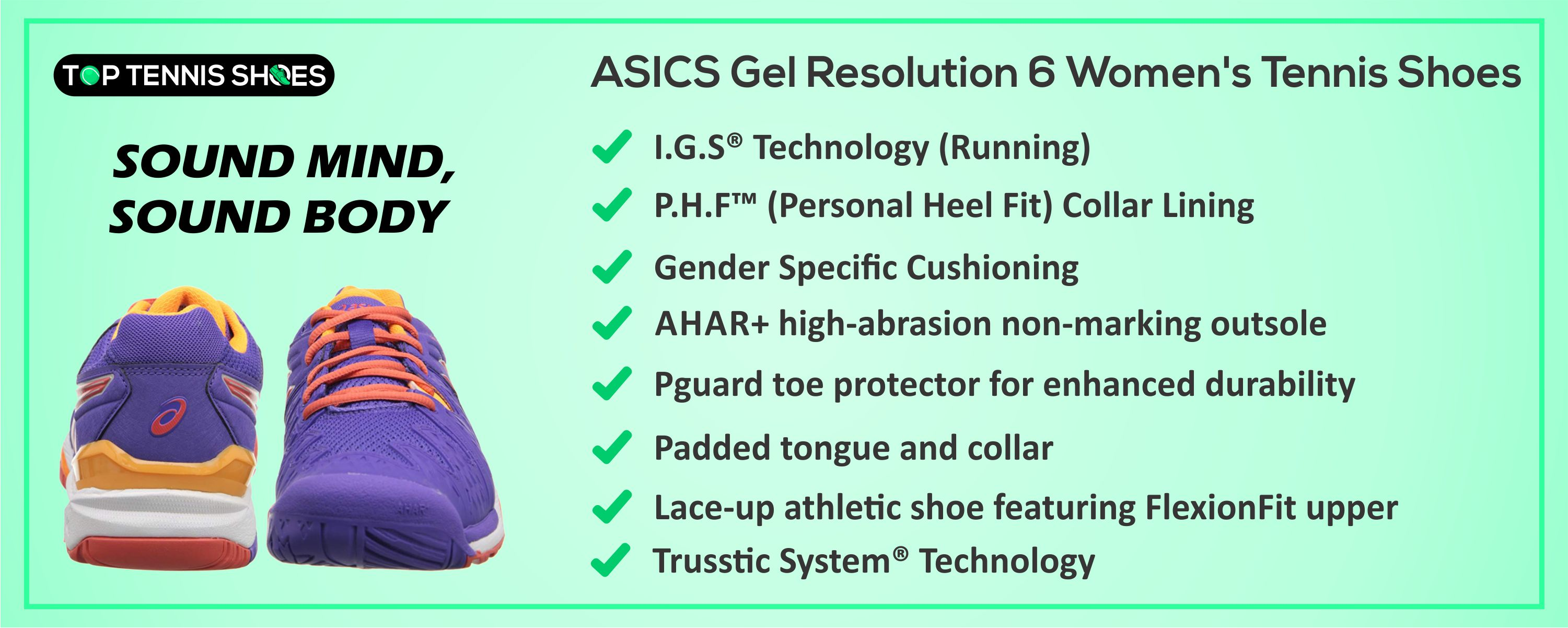 ASICS Gel Resolution 6 detailed reviews