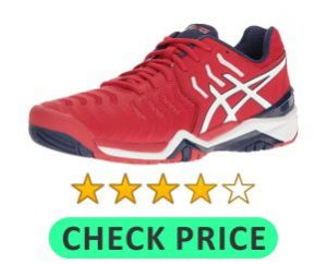 asics gel tennis shoe for heavy players