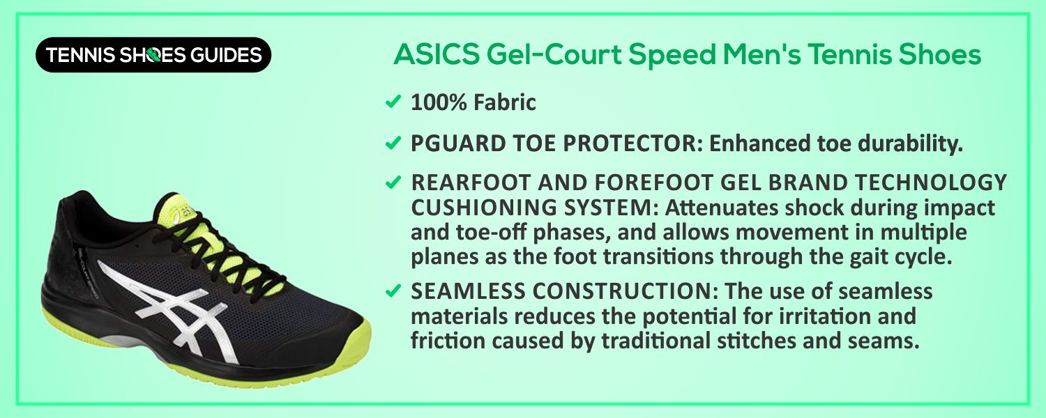 ASICS Gel-Court Speed Men's Tennis Shoes details