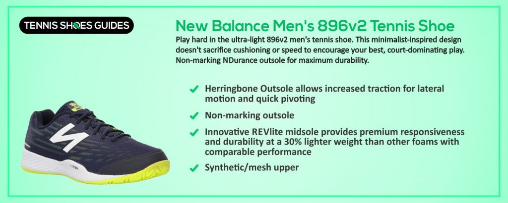 New Balance Men's 896v2 Tennis Shoe specification