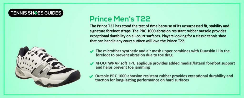 Prince Men's T22 specification