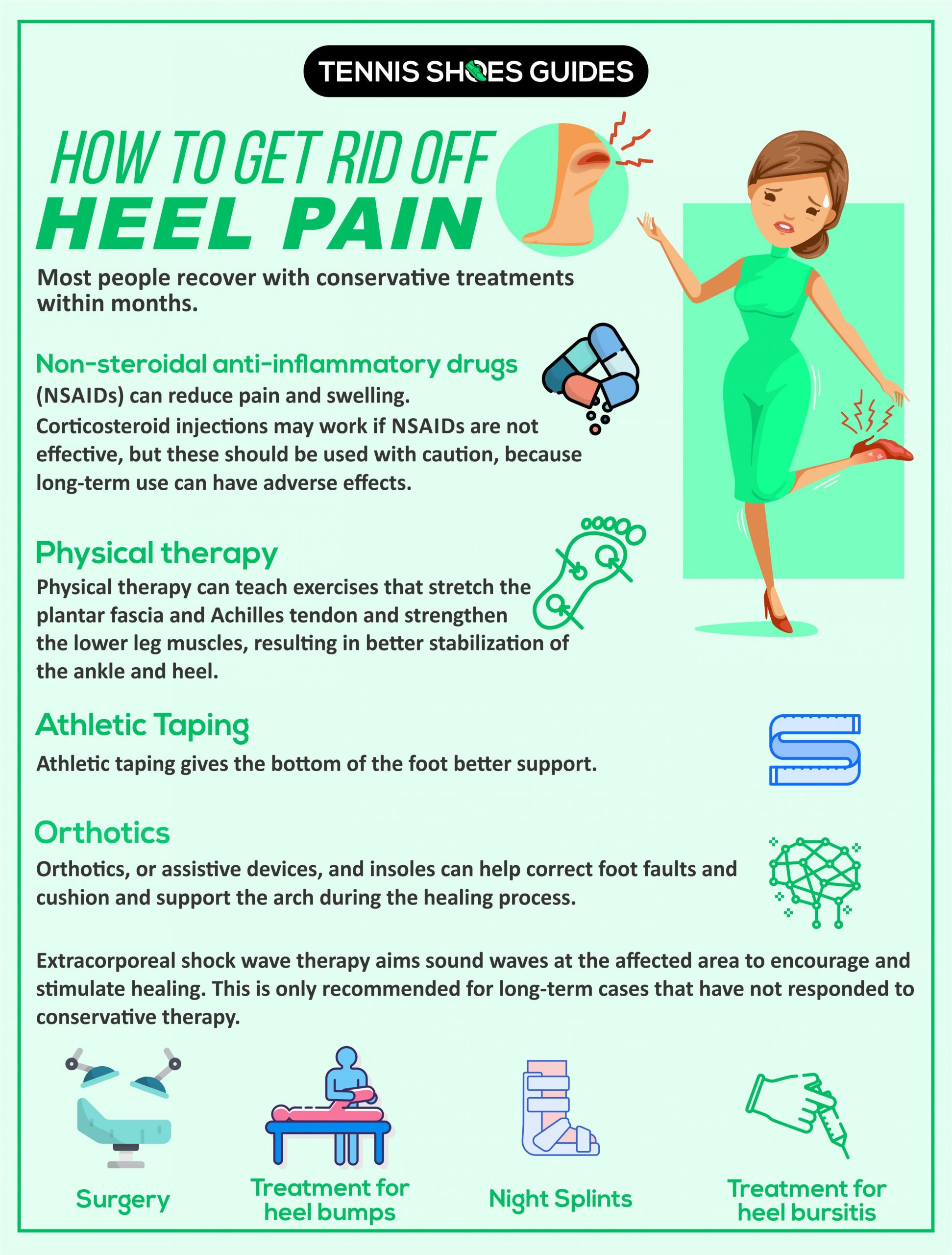how to get rid of heel pain infographic details