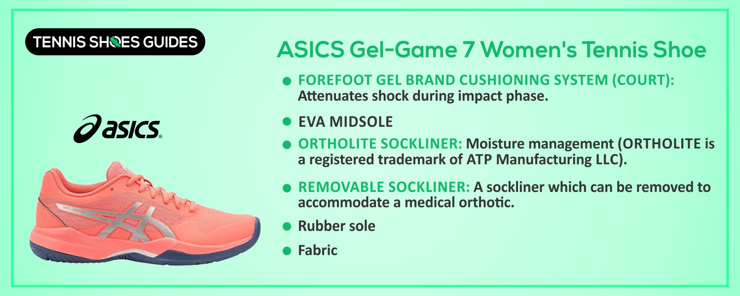 ASICS Gel-Game 7 Women's Tennis Shoe information