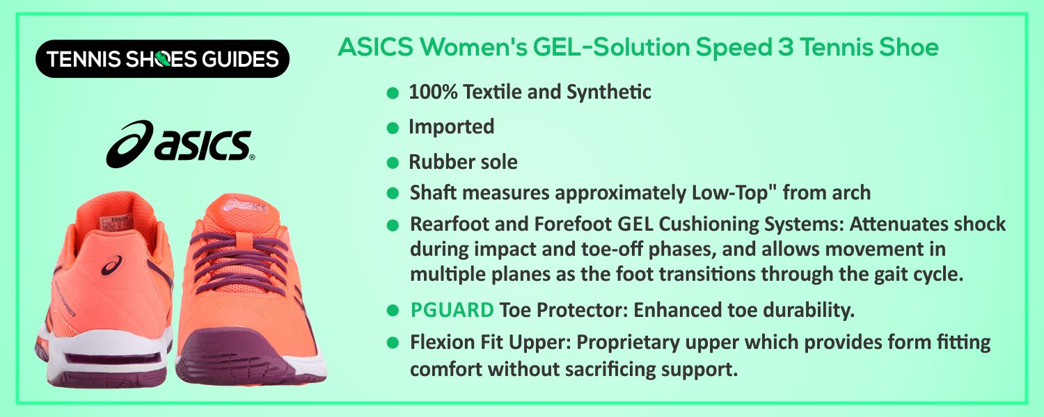 ASICS Women's GEL-Solution Speed 3 Tennis Shoe information