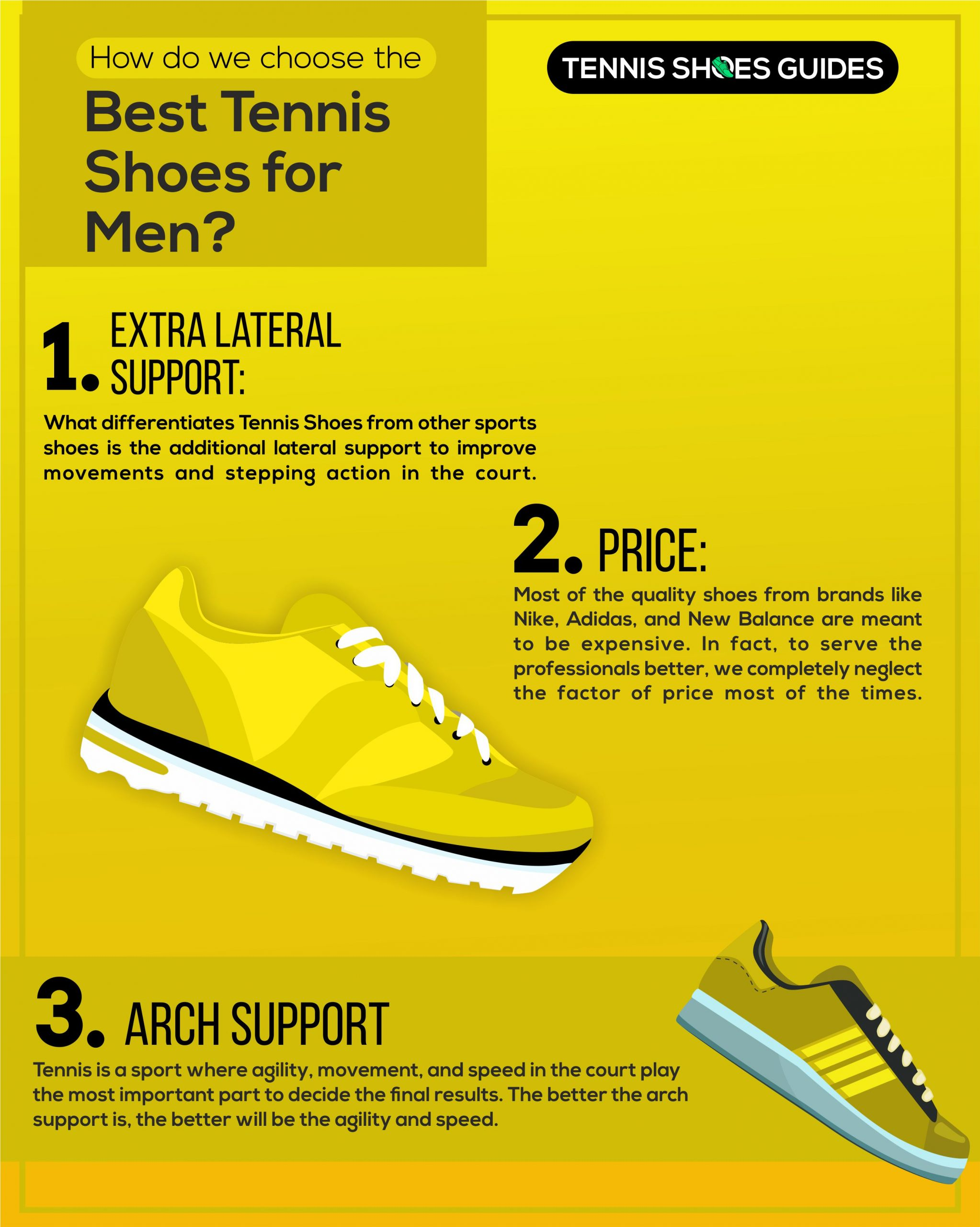 how to choose right tennis shoes infographics